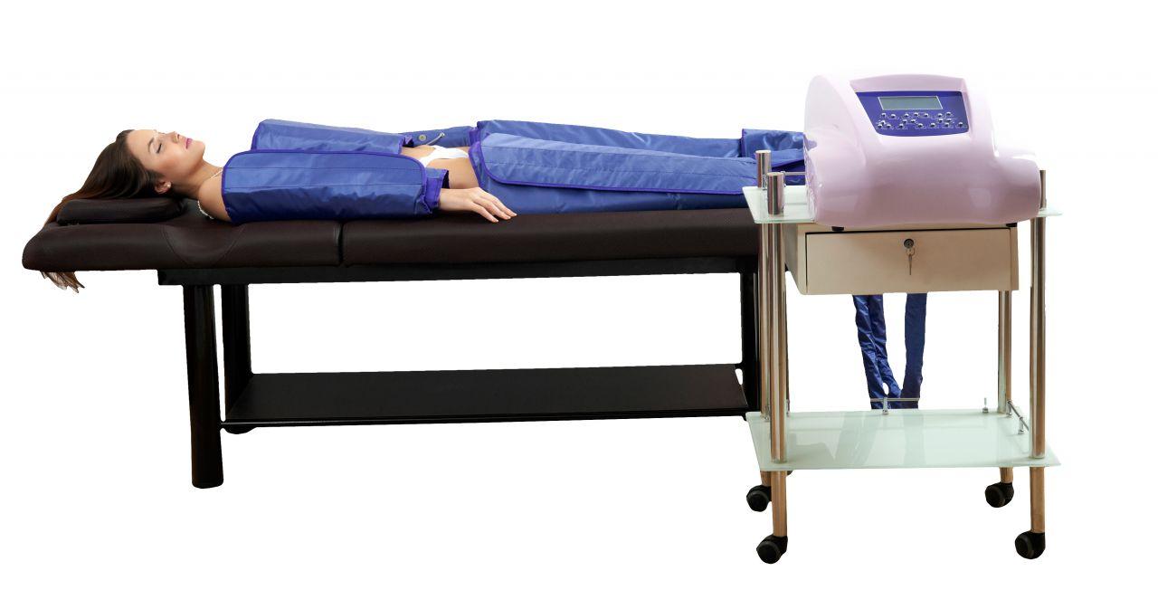 SalonLife 3in1 Hordozható LCD képernyős nyomásterápiás gép infrával és izomstimulációval